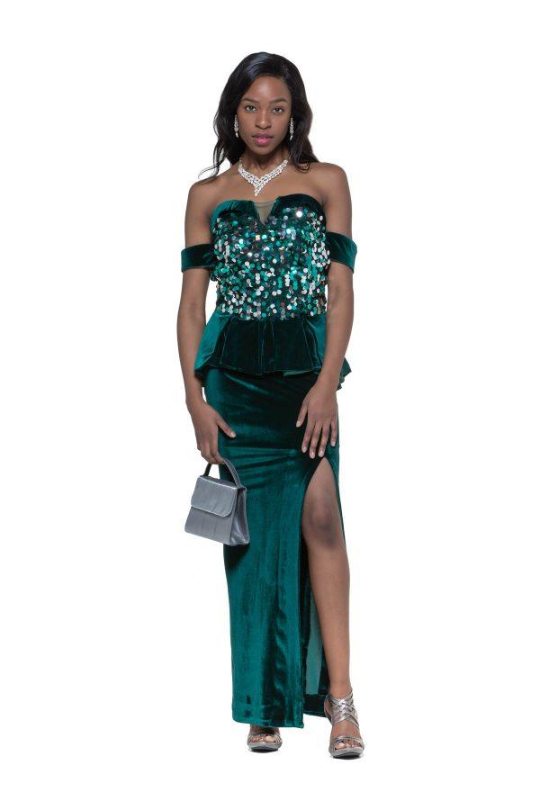Green Velvet Night Dress