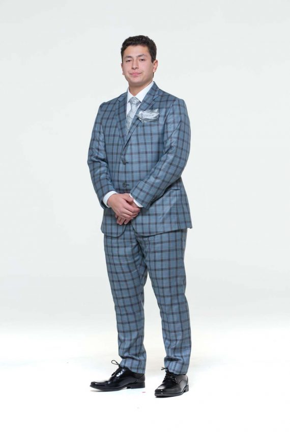 checker suit men
